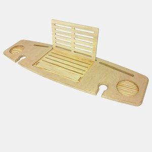 Półka na wannę jasne drewno