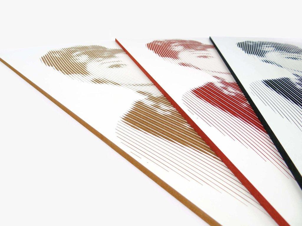 Obrazy SimpleLine trzy kolory wypełnienia na zamówienie