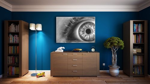 Aranżacja obrazy monochromatyczne SimpleLine