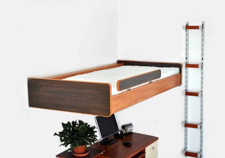 Meble oszczędzające miejsce łóżko na antresoli