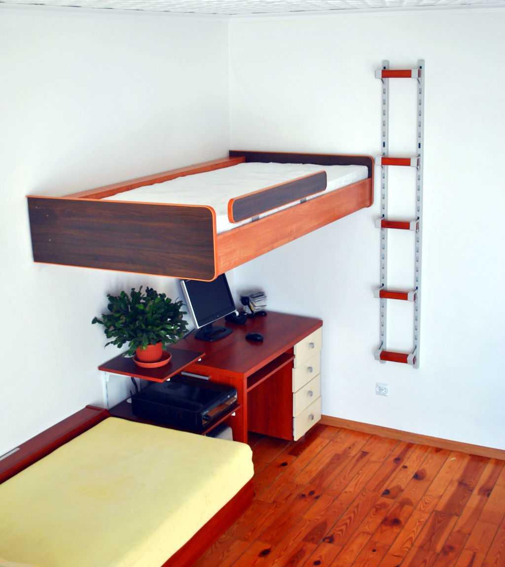 nowoczesne meble, młodzieżowe łóżko wiszące, łóżko piętrowe