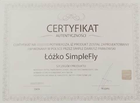 Certyfikat autentyczności SimpleMeble.pl