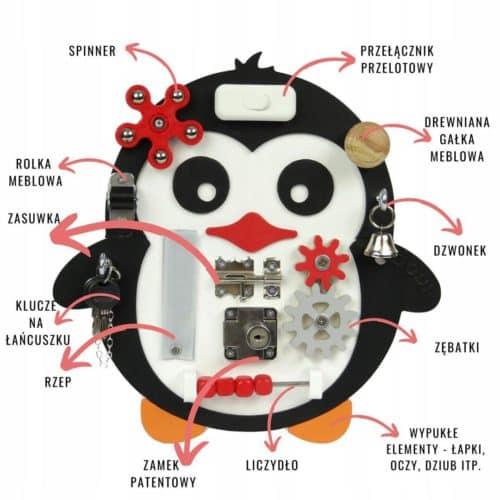 pingwin tablica manipulacyjna dodi elementy 1080