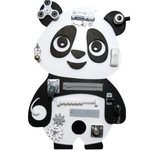 Tablica manipulacyjna Panda czarno-biała