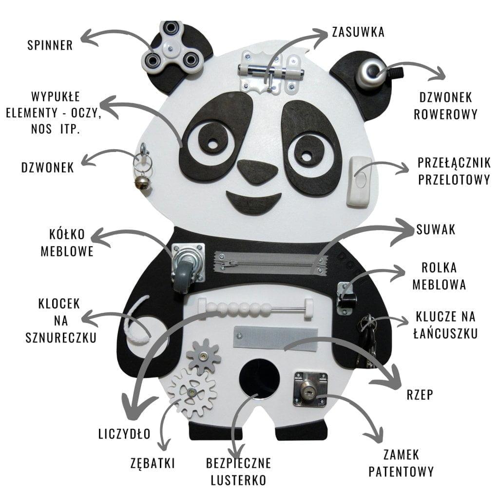 tablica sensoryczna panda dodi elementy